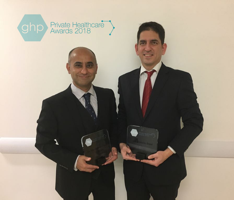 Mr Haresh Devalia & Mr Mohsin Dani win the award of best Oncoplastic and Aesthetic Breast Surgeons, England.